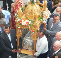 The procession of the remains of Osia Methodia